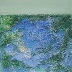 Über den Wassern - Acryl auf Leinwand 50 x 50 x 5 cm