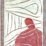 Lebensspuren - Acryl auf Leinwand  - Rollbild 220 cm - öffentlicher Raum