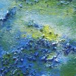 Spätblau - Acryl auf Bütten - öffentlicher Raum