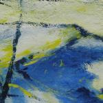 Wintersonne - erster Wintereindruck 2012 - 12 x 12 cm auf Glaspassepartout - in Privatbesitz