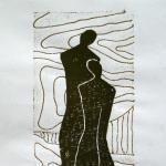Lebensspuren - Linolschnitt - Auflage 3 - in Privatbesitz
